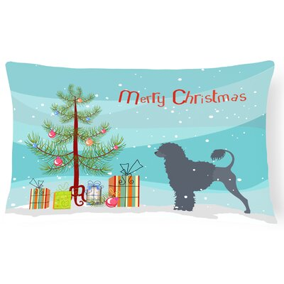 Portuguese Water Dog Indoor/Outdoor Lumbar Pillow