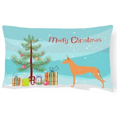 Pharaoh Hound Indoor/Outdoor Lumbar Pillow