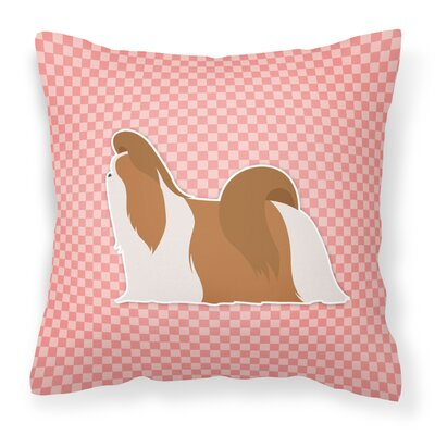 Shih Tzu Indoor/Outdoor Throw Pillow Size: 18 H x 18 W x 3 D, Color: Pink
