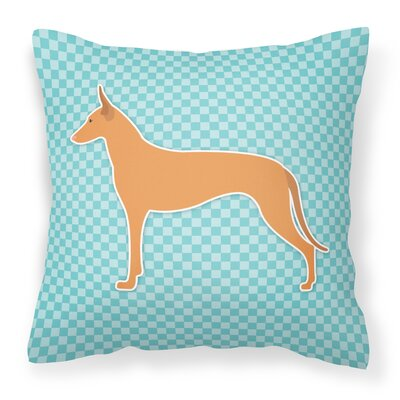 Pharaoh Hound Indoor/Outdoor Throw Pillow Color: Blue, Size: 18 H x 18 W x 3 D