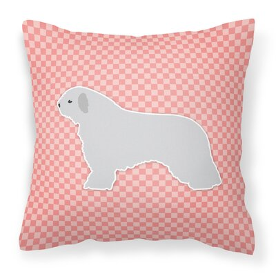 Spanish Water Dog Indoor/Outdoor Throw Pillow Size: 14 H x 14 W x 3 D, Color: Pink