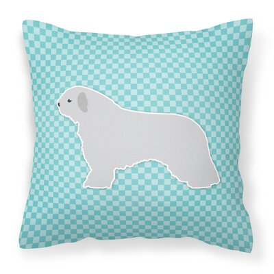 Spanish Water Dog Indoor/Outdoor Throw Pillow Color: Blue, Size: 18 H x 18 W x 3 D