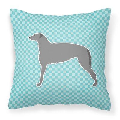 Scottish Deerhound Indoor/Outdoor Throw Pillow Color: Blue, Size: 18 H x 18 W x 3 D
