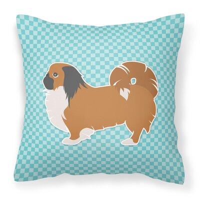 Pekingese Indoor/Outdoor Throw Pillow Color: Blue, Size: 18 H x 18 W x 3 D