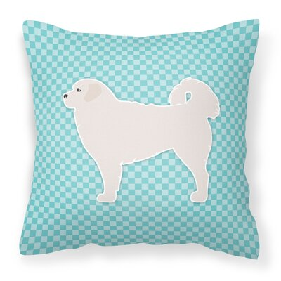 Polish Tatra Sheepdog Indoor/Outdoor Throw Pillow Size: 14 H x 14 W x 3 D, Color: Blue