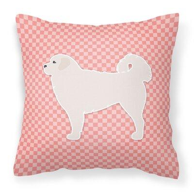 Polish Tatra Sheepdog Indoor/Outdoor Throw Pillow Size: 18 H x 18 W x 3 D, Color: Pink
