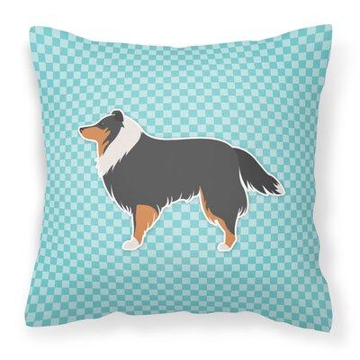 Sheltie Indoor/Outdoor Throw Pillow Size: 14 H x 14 W x 3 D, Color: Blue