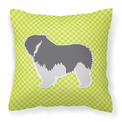 Polish Lowland Sheepdog Indoor/Outdoor Throw Pillow Size: 14 H x 14 W x 3 D, Color: Green
