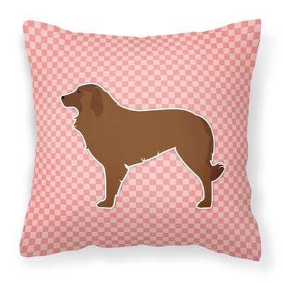 Portuguese Indoor/Outdoor Throw Pillow Size: 18 H x 18 W x 3 D, Color: Pink