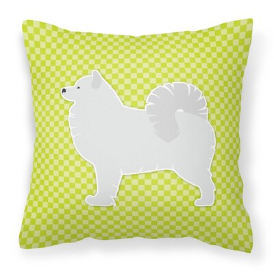 Samoyed Indoor/Outdoor Throw Pillow Size: 18 H x 18 W x 3 D, Color: Green