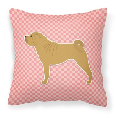 Shar Pei Indoor/Outdoor Throw Pillow Size: 18 H x 18 W x 3 D, Color: Pink