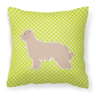 Pyrenean Shepherd Indoor/Outdoor Throw Pillow Size: 14 H x 14 W x 3 D, Color: Green
