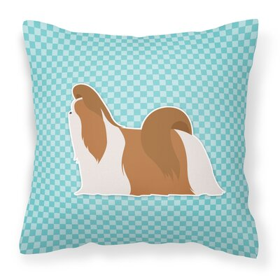 Shih Tzu Indoor/Outdoor Throw Pillow Size: 18 H x 18 W x 3 D, Color: Blue