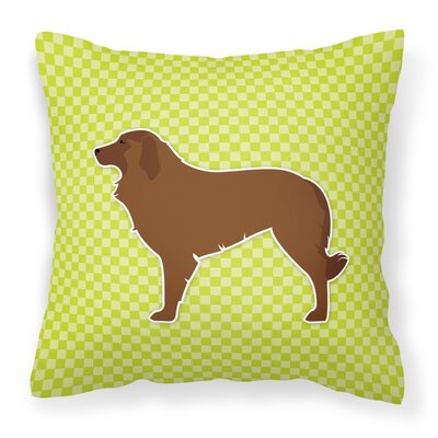 Portuguese Indoor/Outdoor Throw Pillow Size: 14 H x 14 W x 3 D, Color: Green
