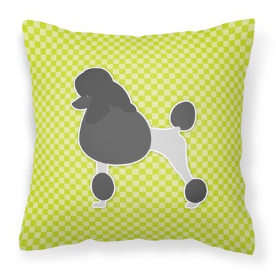 Poodle Square Indoor/Outdoor Throw Pillow Size: 18 H x 18 W x 3 D, Color: Green