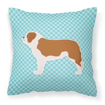 Saint Bernard Indoor/Outdoor Throw Pillow Size: 14 H x 14 W x 3 D, Color: Blue