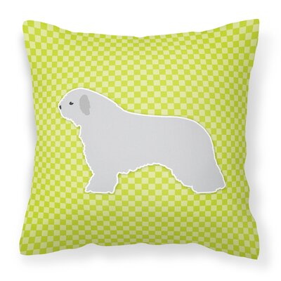 Spanish Water Dog Indoor/Outdoor Throw Pillow Size: 14 H x 14 W x 3 D, Color: Green
