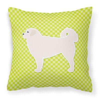 Polish Tatra Sheepdog Indoor/Outdoor Throw Pillow Size: 14 H x 14 W x 3 D, Color: Green