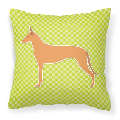 Pharaoh Hound Indoor/Outdoor Throw Pillow Size: 18 H x 18 W x 3 D, Color: Green