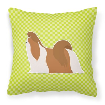 Shih Tzu Indoor/Outdoor Throw Pillow Size: 14