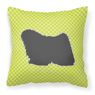 Puli Indoor/Outdoor Throw Pillow Size: 14 H x 14 W x 3 D, Color: Green