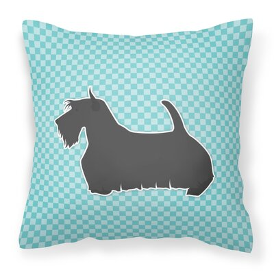 Scottish Terrier Indoor/Outdoor Throw Pillow Size: 14 H x 14 W x 3 D, Color: Blue