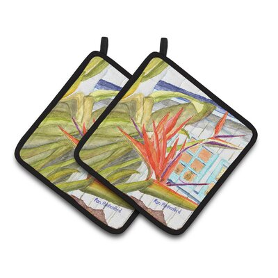 Flower Bird of Paradise Potholder RDR2005PTHD