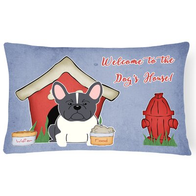 Dog House Contemporary Rectangle Indoor/Outdoor Lumbar Pillow Color: Black/White
