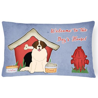 Dog House Handmade Indoor/Outdoor Fabric Lumbar Pillow