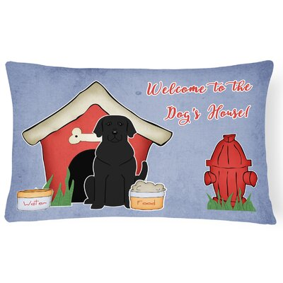 Wildlife Dog House Indoor/Outdoor Fabric Lumbar Pillow Color: Black