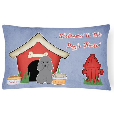 Wildlife Dog House Indoor/Outdoor Heavyweight Canvas Lumbar Pillow Color: Silver