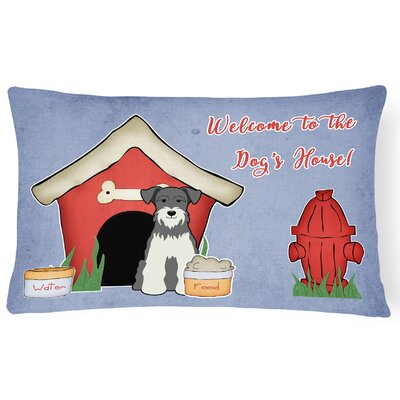 Dog House Soild Handmade Indoor/Outdoor Lumbar Pillow Color: Salt/Pepper