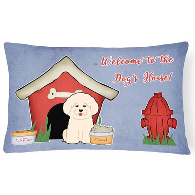 Dog House Indoor/Outdoor Blue Heavyweight Canvas Lumbar Pillow