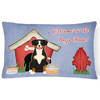 Dog House Soild Indoor/Outdoor Heavyweight Canvas Lumbar Pillow