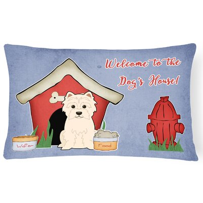 Dog House Contemporary Soild Rectangle Indoor/Outdoor Fabric Lumbar Pillow
