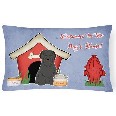 Wildlife Dog House Modern Indoor/Outdoor Lumbar Pillow Color: Black