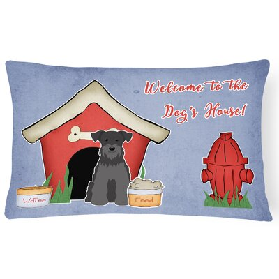 Dog House Soild Handmade Indoor/Outdoor Lumbar Pillow Color: Black