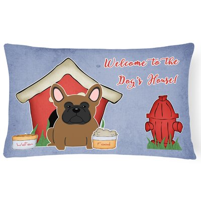 Dog House Indoor/Outdoor Lumbar Pillow Color: Brown