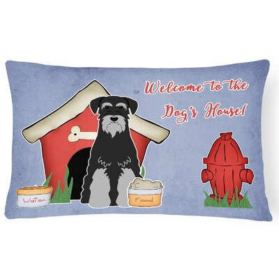 Dog House Soild Rectangle Indoor/Outdoor Heavyweight Canvas Lumbar Pillow Color: Gray