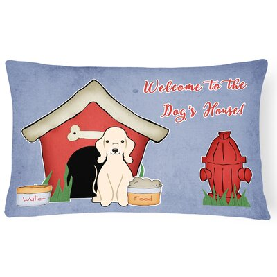 Dog House Indoor/Outdoor Lumbar Pillow Color: Sandy
