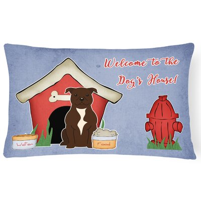 Dog House Handmade Rectangle Indoor/Outdoor Heavyweight Canvas Lumbar Pillow Color: Chocolate