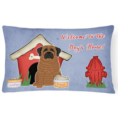 Dog House Modern Indoor/Outdoor Lumbar Pillow Color: Brown