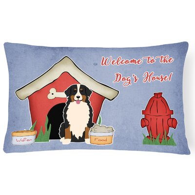Dog House Modern Soild Indoor/Outdoor Lumbar Pillow