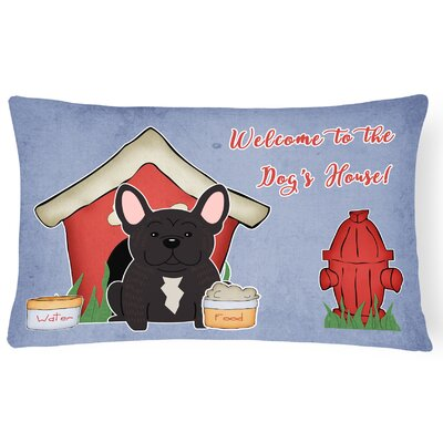 Dog House Handmade Indoor/Outdoor Lumbar Pillow