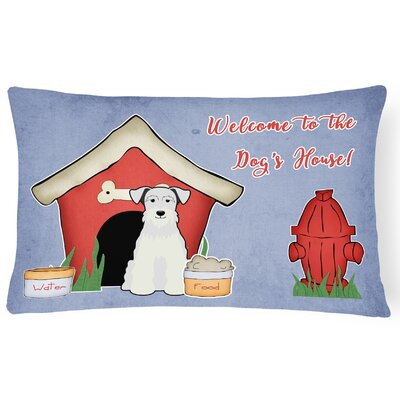 Dog House Soild Handmade Indoor/Outdoor Lumbar Pillow Color: White
