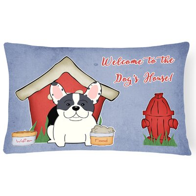 Dog House Contemporary Rectangle Indoor/Outdoor Lumbar Pillow Color: Piebald