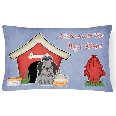 Wildlife Dog House Contemporary Indoor/Outdoor Lumbar Pillow Color: Black/Silver
