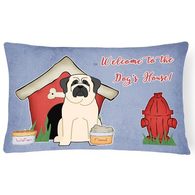 Dog House Modern Rectangle Indoor/Outdoor Lumbar Pillow Color: White