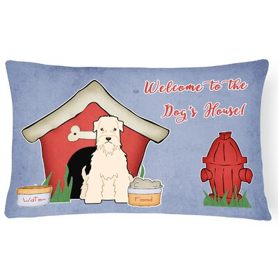 Dog House Indoor/Outdoor Graphic Print Fabric Lumbar Pillow