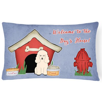 Wildlife Dog House Indoor/Outdoor Heavyweight Canvas Lumbar Pillow Color: White